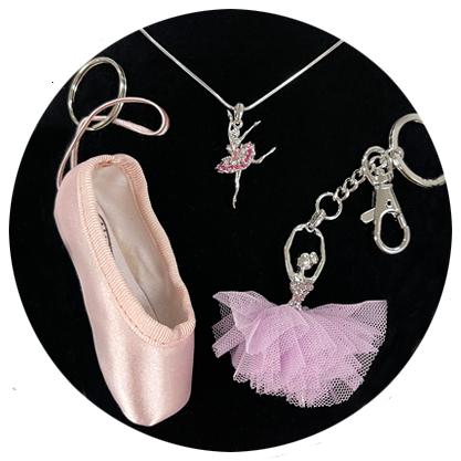 dance jewelry & keychains